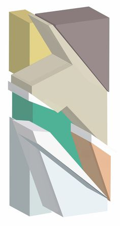 Building Blocks by Jim Keaton #poster #illustration #architecture #art