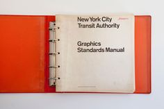 New York City Transit Authority Graphics Standards Manual #guidelines #brand #standards #york #helvetica #new