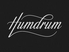 Dribbble - Humdrum logo by Simon Ã…lander #script #design #cursive #humdrum #typography