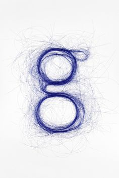 Typography Hair Type blue #hair #letter #type #blue #typography