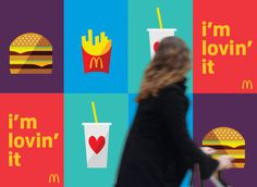 "McDonalds ""I'm Lovn' It"" Brand Refresh/Roll-Out on Behance #branding"