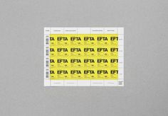 EFTA stamp : DEMIAN CONRAD DESIGN #stamp #yellow