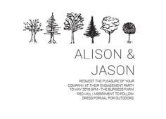 Paper Trees Wedding Set - Engagement Invitations #paperlust #engagement #engagementinvitation #invitation #engagementcards #engagementinspi