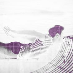 Swimmer #picture #swimmer #photograph #purple #collage