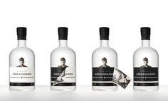 Norwegian Ambassadør — Peel off label. Design by Sans Colour. #packaging #alcohol