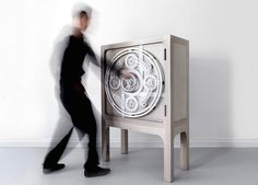 Safe Cabinet – Inspired by Mechanical Bank Vaults