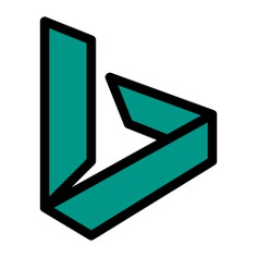 See more icon inspiration related to bing, shapes and symbols, brands and logotypes, brand, logos, logotype, logo, social network and social media on Flaticon.