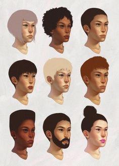 Diversity/Hybridity - Shannon Elliott #deversity #faces #illustration #elliot #shannon