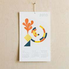 grain edit · The Future is Today: 2010 Calendars #print #calendar #illustration