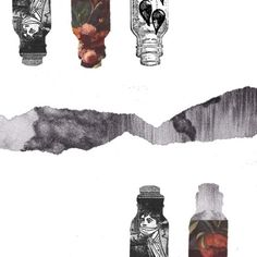show me your key #collage #clouds #boy #flowers #tear #bottles #trapped