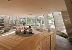 A Nursery School #interieur #school #architecture #nursery #japan