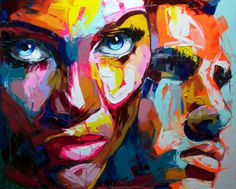 Francoise Nielly | PICDIT #design #color #portrait #painting #art #colour