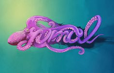 Yana Elert #illustration #species #type #animal #typography