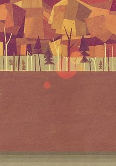 Posters Prints Illustrations / Underground | Matthew Lyons #clear #retro #wood #illustration #vintage #forest #paper