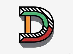 trendgraphy: D by Chris McCaffreyTwitter || Source #font #typography