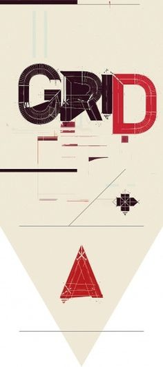 TYPE / DECONSTRUCT on the Behance Network #grid #red #black #typography