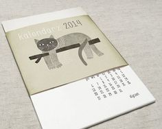 Kalendarz Koty 2014 #illustration #calendar #cat