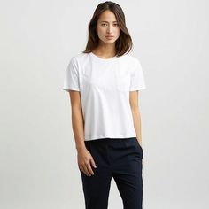 The Box Cut Tee - White – Everlane