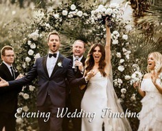 This is why having a wedding day timeline organized to the second of every event at your wedding is very important. Sometimes it can be difficult to calculate just how much time should be allocated to each activity.