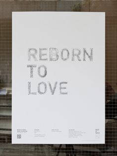 baseline workshop / reborn to love poster #graphics #prints