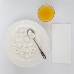 Print Shift 3D printed food #print #white #3d #food