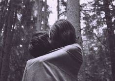 anna marek. #white #hug #photo #black #and #forest #love #kiss