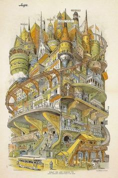 The Fox Is Black » A Fake Building from 1895 #illustration