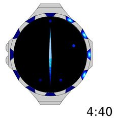Snowflake Patterned LED Watch #design #futuristic #gadget #industrial #concept #art