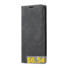 CaseMe #Retro #Leather #Wallet #Flip #Mobile #Phone #Case #for #Redmi #Note #8 #Pro #- #BLACK