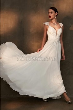 eDressit Gorgeous Cap sleeves Beaded Women Wedding Dress (01200907)