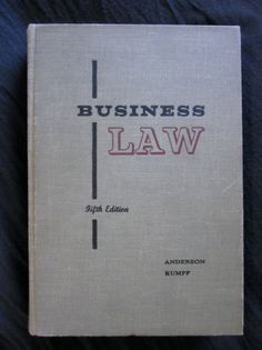 Business Law Textbook 1956 by TheSarahLillian on Etsy on we heart it / visual bookmark #14183356