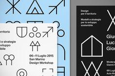 Davide Di Gennaro's symbol-heavy design workshop identity.