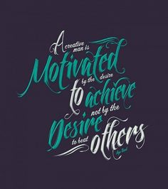 Typcut » Motivate #creative #lettering #design #type #man #typography