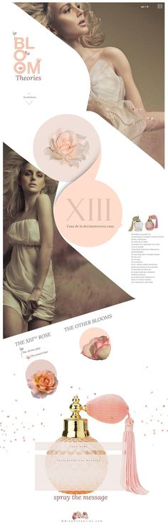 #design #layout #perfume #pink #minimal #website #one page