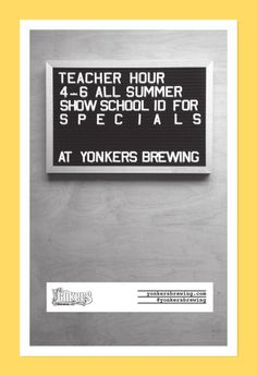 poster design for yonkers brewing co.