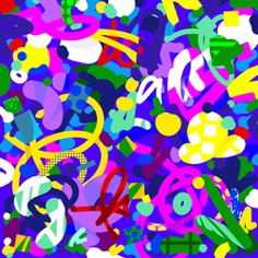 Graffiti Experimental graphic pattern for key visuals designed by Andrei Robu www.robu.co