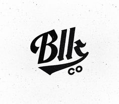 Blk Co. Logo Update #logo design #brand #identity #typography