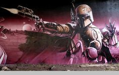 Sci fi graffiti street art