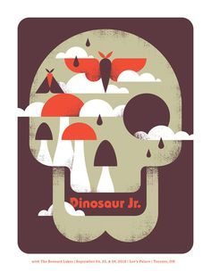 Dinosaur Jr. / The Besnard Lakes - Doublenaut #gig #poster
