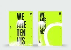 Sam Dallyn - We Are Tennis - Branding for BNP Tennis website #tennis #poster
