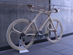 YojiroOshima WoodBike 3qRear.jpg #bicycle #wood #bike