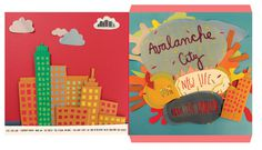 Avalanche City Album cover on Behance #crafts #design #graphic #cubillo #handmade #for #music #paper