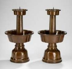 Pair of candlesticks Bronze