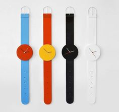 Watch Clock by Andrew Neyer | Design Milk #design #watch
