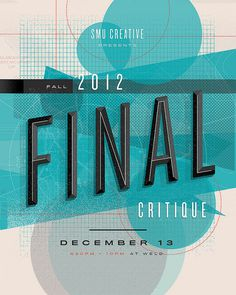 Final Critique #line #grid #poster #circle #typography