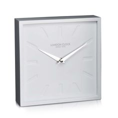 London Clock Company 'Dyp' Wall / Mantel Clock, White, 18cm x 18cm x 5cm
