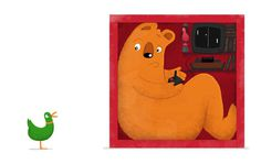 Children's book illustration - Tom Wolley #wolley #duck #box #tom #illustration #bear #games