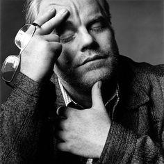 """I think you should be serious about what you do because this is it. This is the only life you've got."" - Philip Seymour Hoffman #seymour #white #philip #black #portrait #hoffman #and"