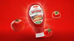 Vital tomato ketchup packaging design - visual http://petya.design