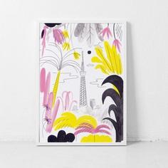 tokyo skytree🌴🎌🦎original artwork from my tropicana series, ink, fineliner and acrylic on paper, 21x30cm . . . . . #nature #naturetakesover #naturetakescontrol #illustration #originalart #artwork #tokyo #tokyoskytree #skytree #tokyolove #tokio #ink #inkonpaper #palmtrees #jungle #carolinloebbert #drawing #tropicana #tropical #tropicalisland #tropicalfeeling